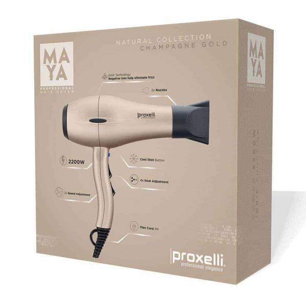 Proxelli MAYA föhn Champagne goud 2200 watt JC Professional
