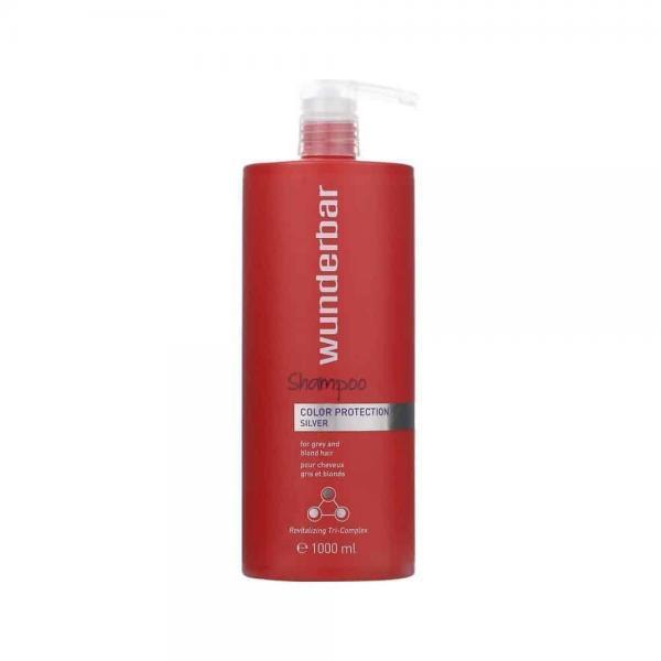 Wunderbar Color Protection SILVER shampoo (grijs/blond haar) JC Professional
